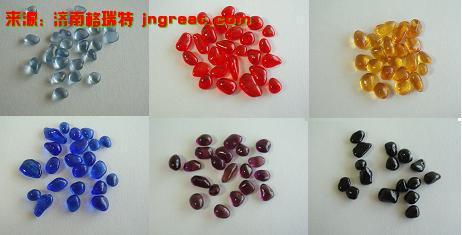 各种彩色卵型珠